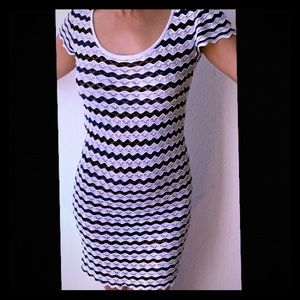 Mango MNG Crochet Midi Dress